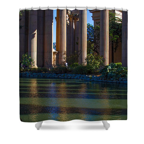 The Palace Pond Shower Curtain