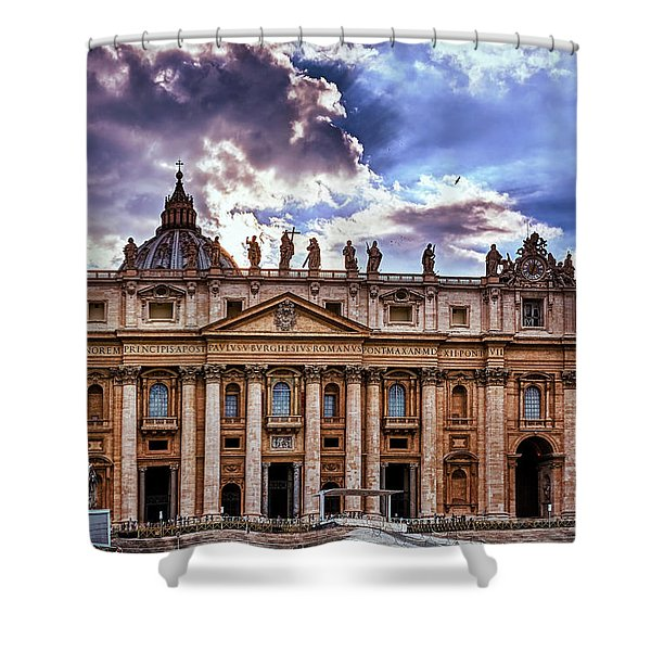 The Papal Basilica Of Saint Peter Shower Curtain