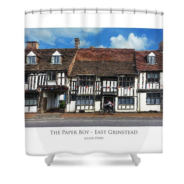 The Paper Boy - East Grinstead Shower Curtain