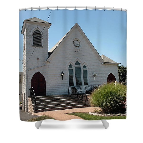 The Patchogue Seventh Day Adventist Church Shower Curtain