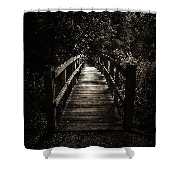 The Path Between Darkness And Light Shower Curtain