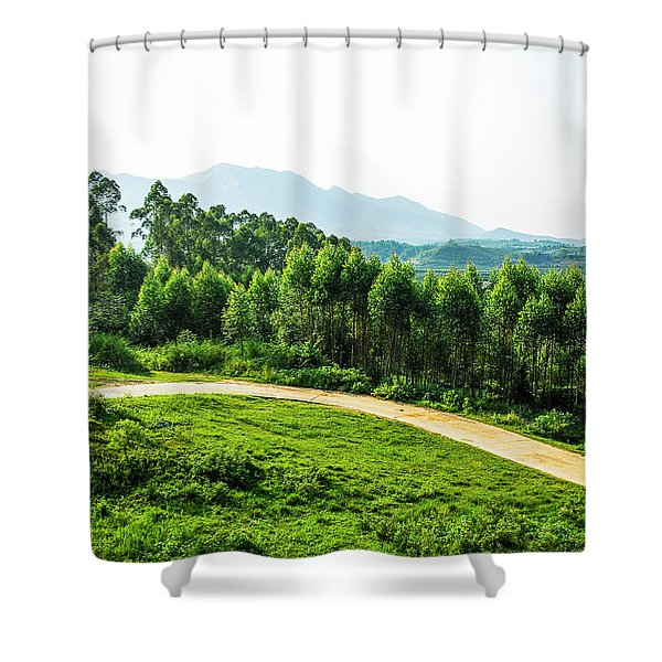 The Path In The Mountain Shower Curtain
