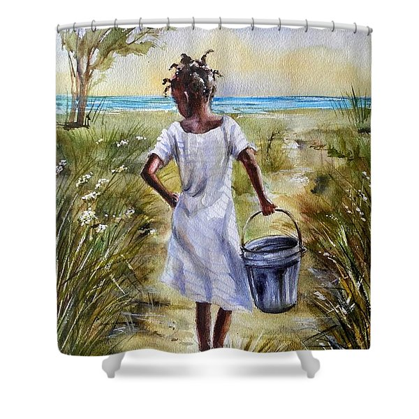 The Path To The Sea Shower Curtain