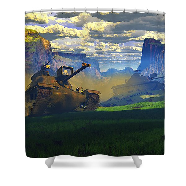 The Patton Effect Shower Curtain