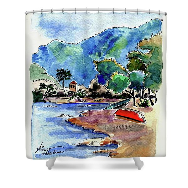 The Peloponnese Shower Curtain