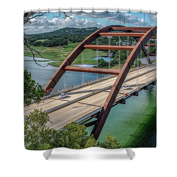 The Pennybacker Bridge Shower Curtain