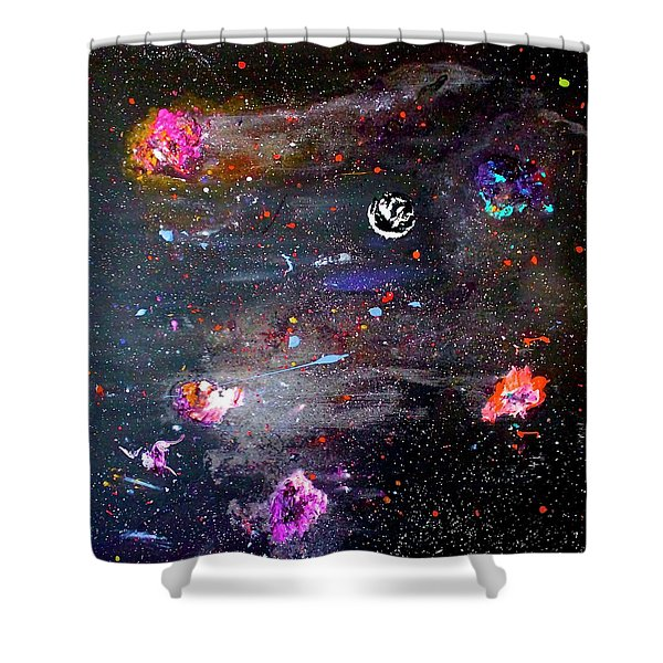 Shower Curtain featuring the painting The Perfect Storm by Michael Lucarelli
