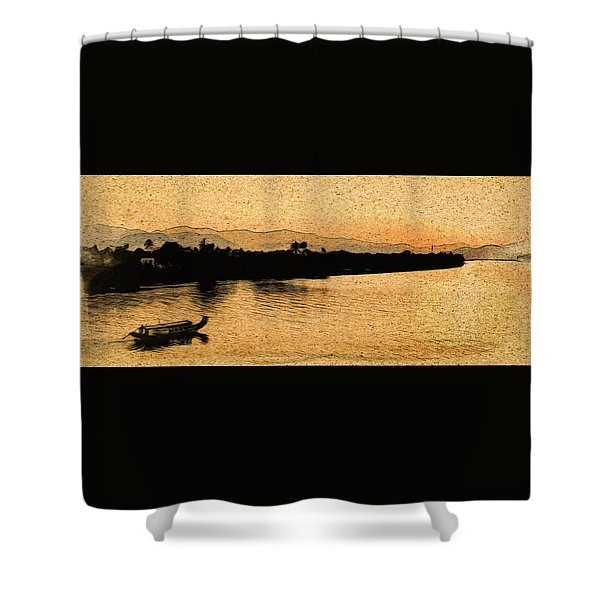 The Perfume River Shower Curtain