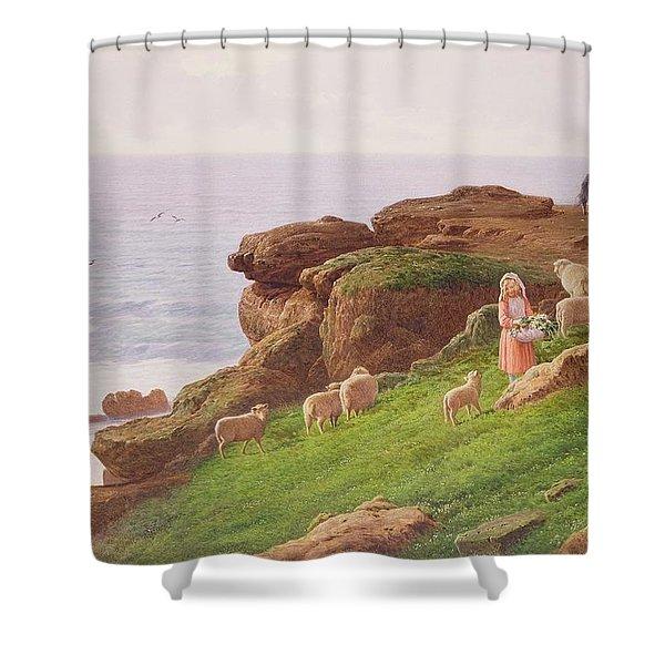 The Pet Lamb Shower Curtain