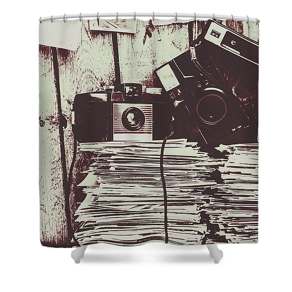 The Photo Room Shower Curtain
