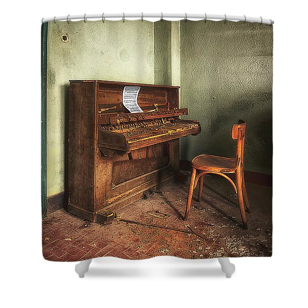 The Piano Shower Curtain