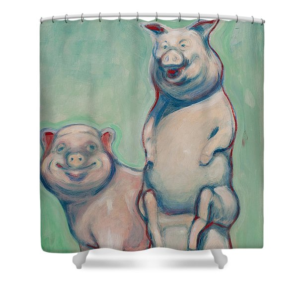 The Pigs Shower Curtain