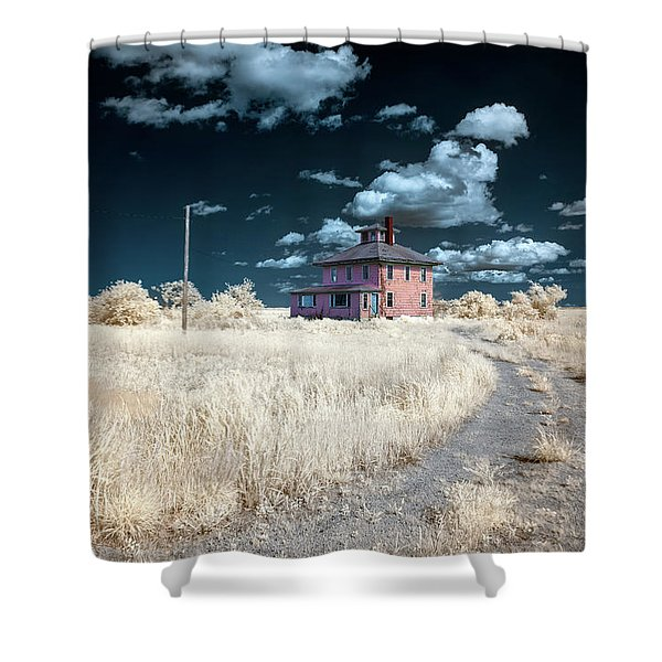 The Pink House In Halespectrum 1 Shower Curtain