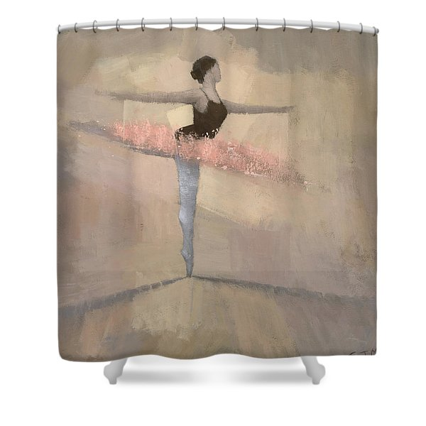 The Pink Tutu Shower Curtain