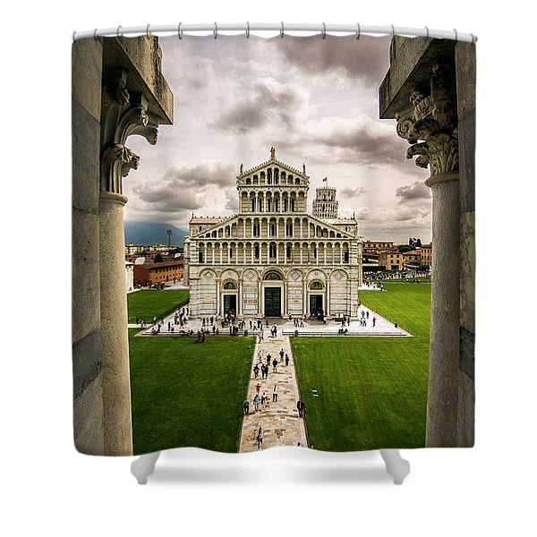 The Pisa Cathedral From The Bapistry Shower Curtain