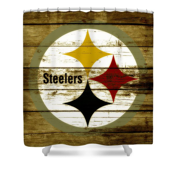 The Pittsburgh Steelers W4 Shower Curtain