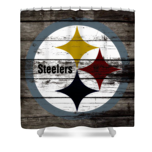 The Pittsburgh Steelers W7 Shower Curtain