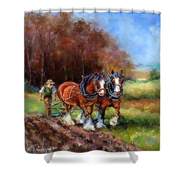 The Ploughing Match Shower Curtain