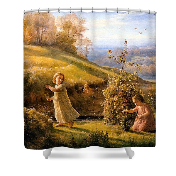 The Poem Of The Soul Spring Anne Francois Louis Janmot 1854. Shower Curtain