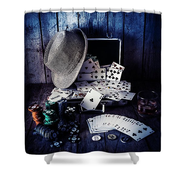 The Poker Ace Shower Curtain