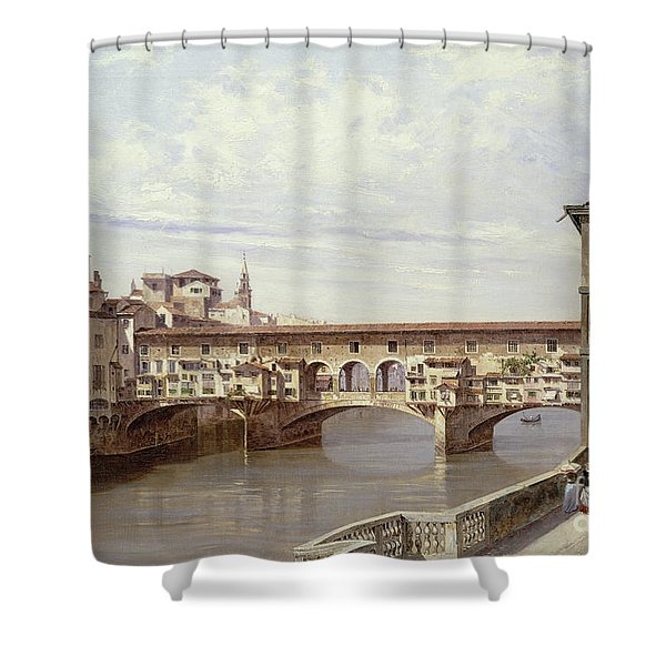 The Pontevecchio - Florence  Shower Curtain