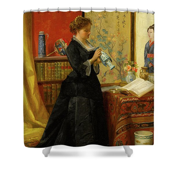 The Porcelain Collector Shower Curtain