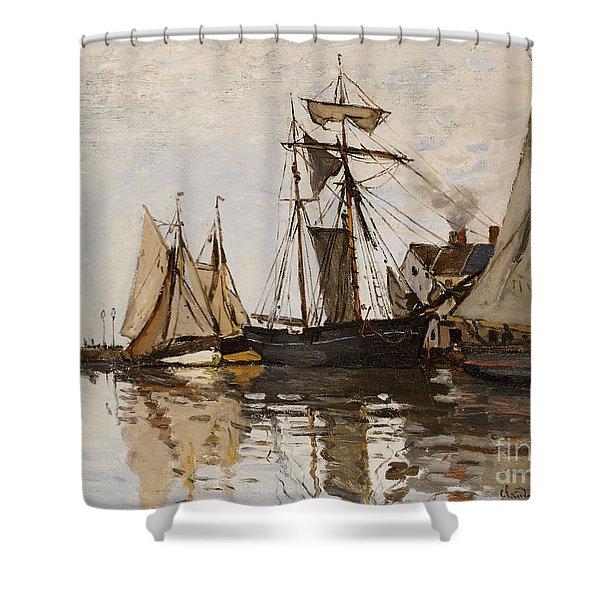 The Port Of Honfleur Shower Curtain