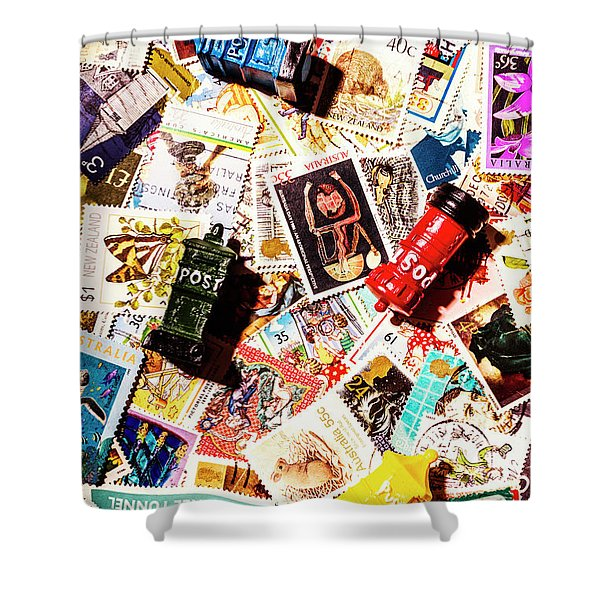 The Postbox Collector Shower Curtain