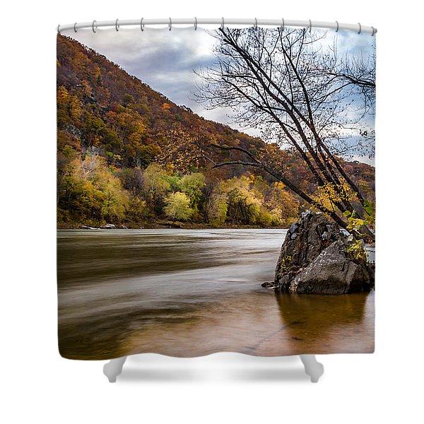 The Shenandoah In Autumn Shower Curtain