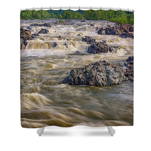 The Potomac River Shower Curtain