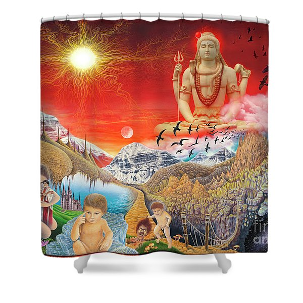 The Power Of Different Gods Shower Curtain