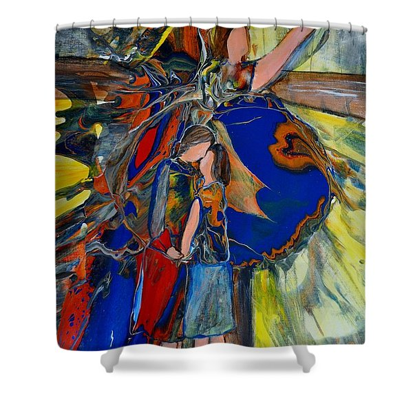 Shower Curtain featuring the painting The Power Of Forgiveness by Deborah Nell