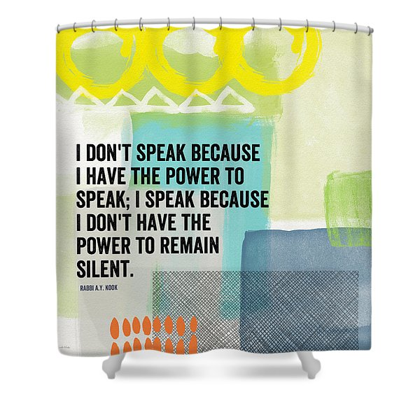 The Power To Speak- Contemporary Jewish Art By Linda Woods Shower Curtain