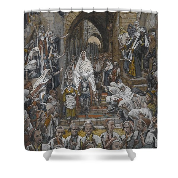 The Procession In The Streets Of Jerusalem Shower Curtain