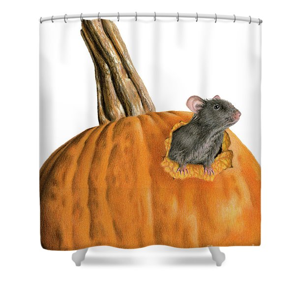 The Pumpkin Carver Shower Curtain