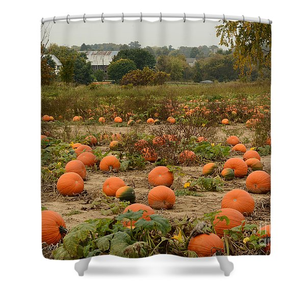 The Pumpkin Farm Two Shower Curtain