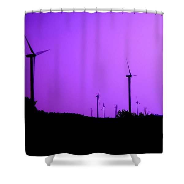 The Purple Expanse Shower Curtain