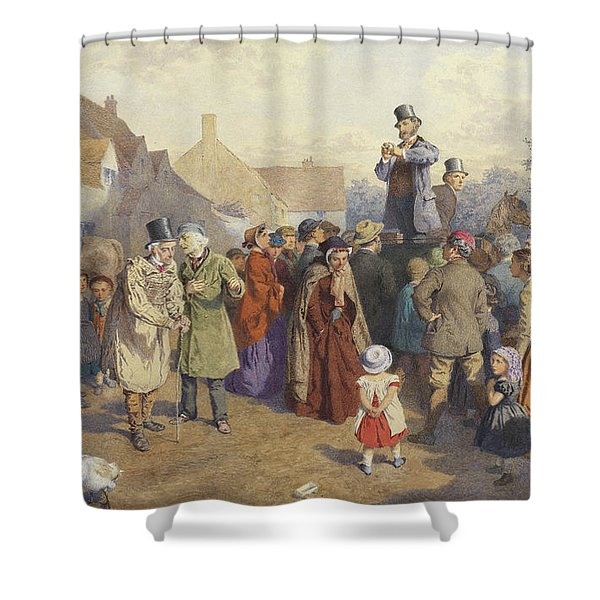The Quack Doctor, 1866 Shower Curtain