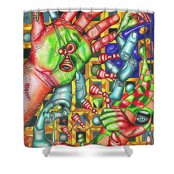 The Quantum Mechanics Of Chess And Life Shower Curtain