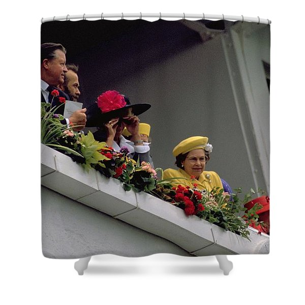 The Queen At Derby Day 1988 Shower Curtain