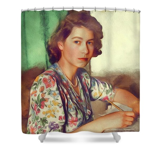 The Queen Of Great Britain Shower Curtain