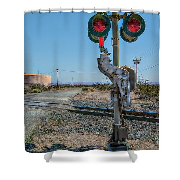The Railway Crossing Shower Curtain