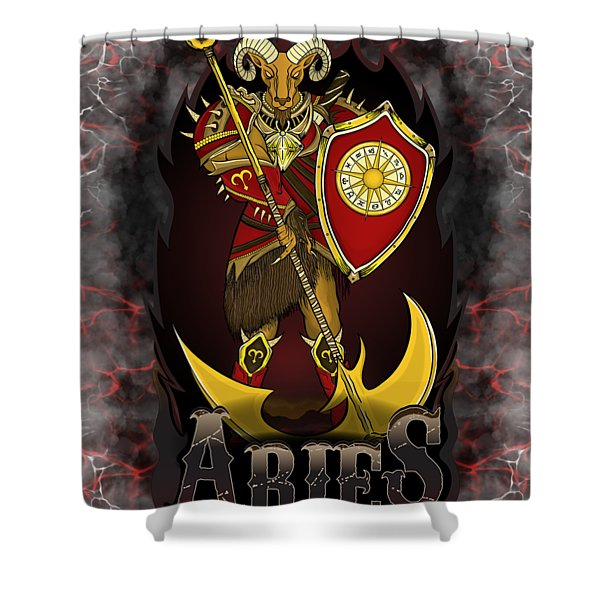 The Ram Aries Spirit Shower Curtain
