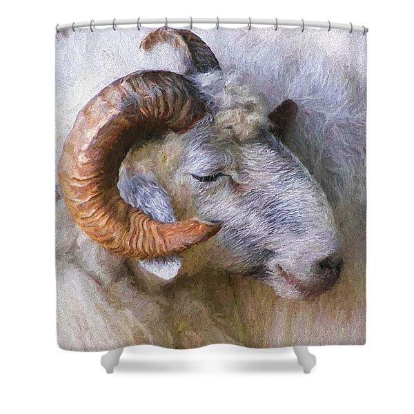The Ram Shower Curtain