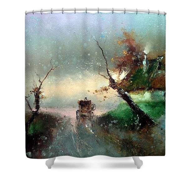 The Rays Of The Morning Sun Shower Curtain