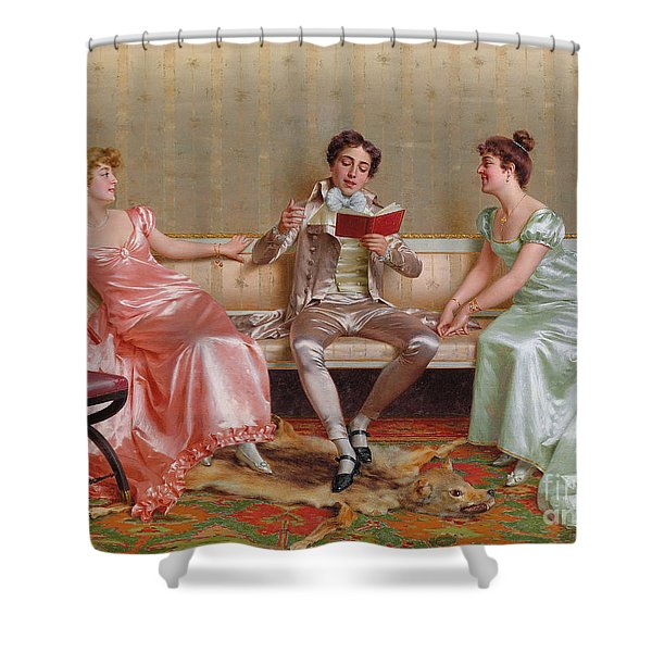 The Reading Shower Curtain