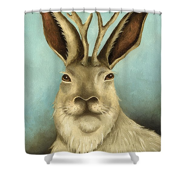 The Real Jackalope Shower Curtain