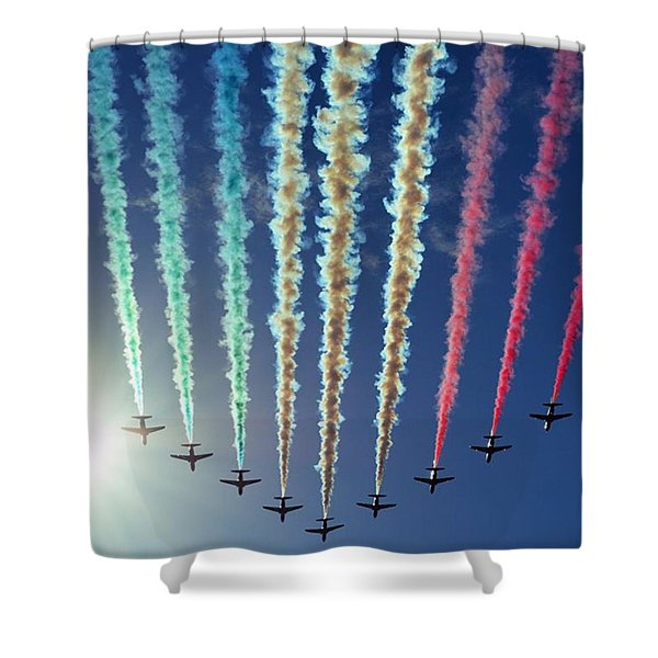 The Red Arrows Flyover Great North Run 2015 Shower Curtain