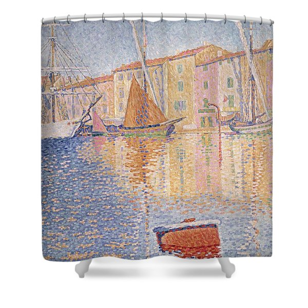 The Red Buoy Shower Curtain