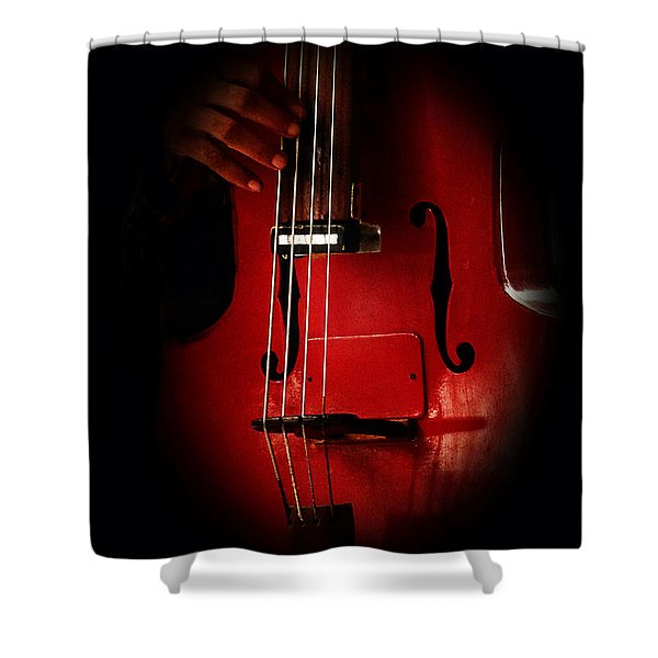 The Red Cello Shower Curtain